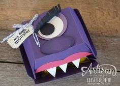 Stampin' Dolce: Trick or Treat monster creature using Stampin' Up! hamburger box