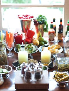 Saxon and Parole's Bloody Mary bar.