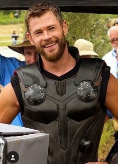 Thor in infinty war BTS