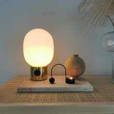 3 tips to help style your home with the JWDA lamp from MENU Lamp Design, Lighting Design, Metal Table Lamps, Oil Lamps, Polished Brass, Office Ideas, Desk Lamp, Menu, Traditional
