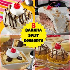 Banana splits are a favorite summertime treat, and we've got 8 delicious new ways for you to enjoy this classic flavor combination!
