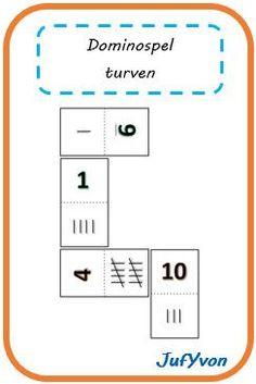 Een gezellig dominospelletje om het turven te oefenen! Klik hier of klik op de afbeelding om het document te downloaden. Veel ...