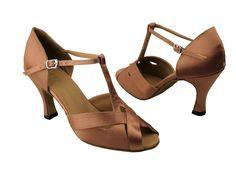 Salsa shoes? http://www.exoticsalsashoes.com/2703BrownSatin