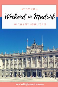 The best sights to see for a great weekend in Madrid, Spain. The perfect 2 day city break itinerary. Europe Travel Guide, Europe Destinations, Spain Travel, Travel Guides, Travelling Europe, Visit Madrid, Madrid Travel, Weekend Breaks, Spain And Portugal
