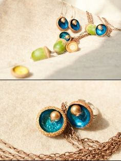 Handmade jewelleries from acorns