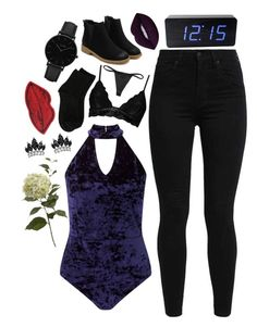 """""""blood , sweat and tears inspired outfit"""" by bvngtangboys ❤ liked on Polyvore featuring Miss Selfridge, Levi's, Boohoo, Lime Crime, Erika Cavallini Semi-Couture, Kiki de Montparnasse, CLUSE, Fallon, Decree and kpop"""