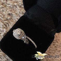 1.40 Ct D/VVS1 Diamond Wedding Bridal Set 14K White Gold Over Engagement Ring
