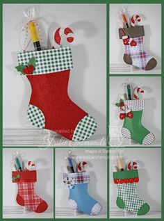 The Stockings Were Hung.... - Inkredible Stamping with Julie Stampin' Up! Holiday Stocking Die