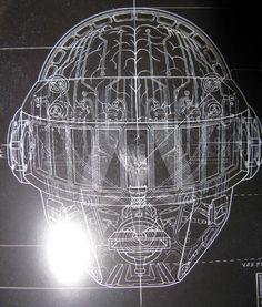 Thomas Bangalter's helmet. Random Access Memories by Daft Punk.