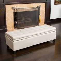 Christopher Knight Home Brighton Sand Linen Storage Ottoman (€165) ❤ liked on Polyvore featuring home, furniture, ottomans, beige, padded ottoman, ivory storage ottoman, storage footstool, rectangular ottoman and cushioned ottoman
