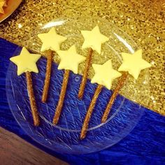 Pretzel wands at a Twinkle Little Star birthday party! See more party ideas at CatchMyParty.com!