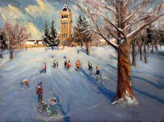 Jeremy Winborg Sledding on College Hill Utah State University