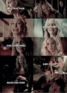 Caroline Forbes...the real hero of TVD
