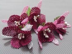 İğne oyaları küpeli çiçeği yapımı - YouTube