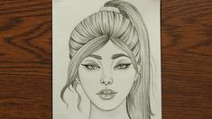 draw ponytail hairstyle easy drawing sketch hairstyles face drawings simple sketches pony tail pencil cool