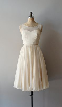 1950s Vanilla Sky silk chiffon dress