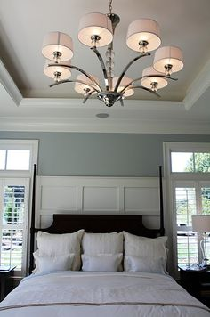 I love the paneled headboard -- so many possibilities! Complete instructions are posted as a tutorial