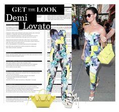 """Demi Lovato"" by ntonkovic ❤ liked on Polyvore featuring moda, Arche, Bardot, Yves Saint Laurent e CÉLINE"