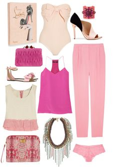 Pink things to wear for Valentines Day and beyond.  Like the flats with the bow.