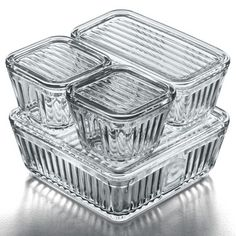 vintage glass refrigerator storage containers