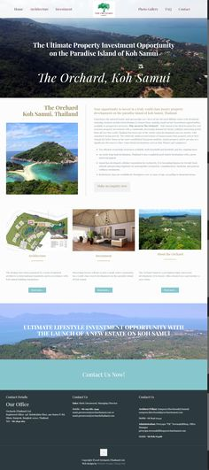 New website for property investment opportunity in Koh Samui, Thailand Samui Thailand, Koh Samui, Portfolio Web Design, Paradise Island, Investment Property, Opportunity, Investing, Photo Galleries, Website
