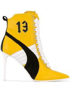 064d682cb Fenty Puma By Rihanna Lace Up Heels ($415) ❤ liked on Polyvore ...