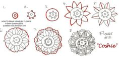 How to draw Paisley Flower 12 Coshie by Quaddles-Roost.deviantart.com on @deviantART