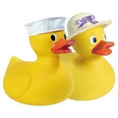 """Schylling Big Rubber Duck by Schylling. $16.99. The Schylling Large Rubber Duck is for the serious rubber duckie fan! Measuring 9 1/2"""" tall, this jumbo quacker is waiting to fill a bathtub or become treasured decor! One duck is included. Removable hat."""