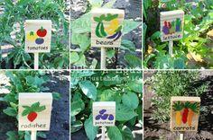 "Garden time ~ Let's play ""Name that veggie! """