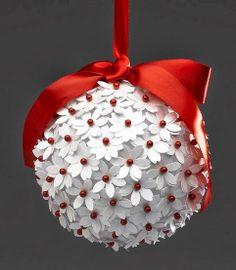 Como fazer decoração com bolas de flores com papel para festa, casamento ou aniversário - Artesanato Brasil