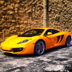 Pretty Yellow McLaren MP4 12C