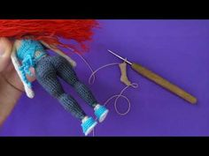 Кукла крючком Виолетта , часть 2 (Ноги). Crochet doll Violetta, part 2 (Legs) - YouTube