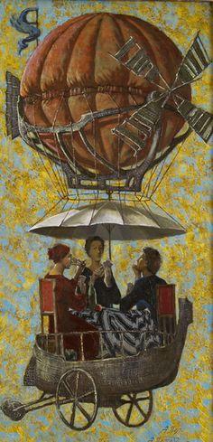 Anton Yakutovych 1957 -  Ukrainian Fantastic Realism painter