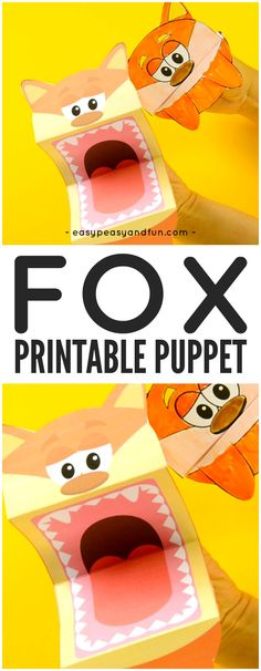 Free Printable Fox Puppets Craft for Kids to Make and Play With