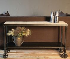 Industrial Cart Console at HudsonGoods.com