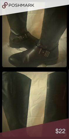 Black leather above the knee boots. This is a used pair of black leather boots. Mossimo Supply Co Shoes Over the Knee Boots