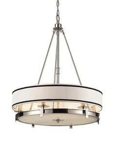 Artistic Lighting Tribeca 6-Light Pendant in Polished Nickel