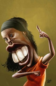 Ronaldinho Cartoon Faces, Funny Faces, Cartoon Art, Funny Caricatures, Celebrity Caricatures, Avatar 2 Full Movie, Pictures To Draw, Funny Pictures, Love Smiley