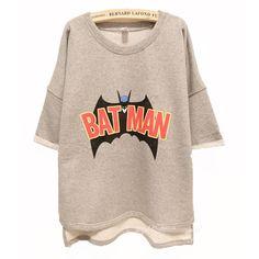 Image of Batman Free Style Cutton Hoodie/T-shirt
