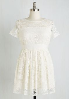 BB Dakota Adrift on a Cloud Dress in Ivory. Similar with a softer over lace. I like the thicker better...it seems sturdier.