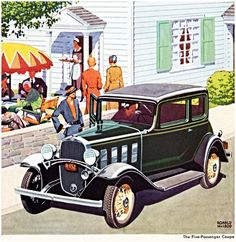Chevrolet Five P Coupe 1932 Green - Mad Men Art: The 1891-1970 Vintage Advertisement Art Collection