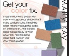 Makeup Color Innovations from Mary Kay! Receive 10% off when you order from my website at: www.marykay.com/tdennis6