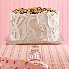 Lane Cake | Pecans, raisins, flaked coconut, and of course, a little bourbon, top this classic Southern layer cake.