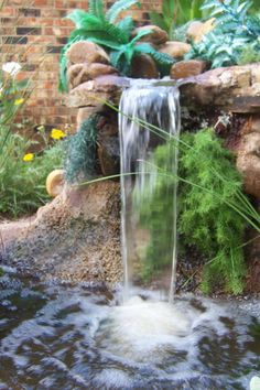 Water Garden Waterfall | garden waterfall design 3 e1281723905262 Waterfall enhances the beauty ...