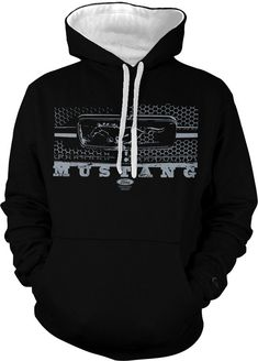 Ford Mustang Hoodie Ford Mustang Legend Grille by TheTShirtShoppe