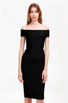 Spotlight Star Knits Bardot Dress | Collections | French Connection Usa
