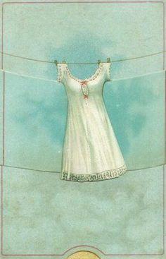 I love wispy white dresses and shades of aqua.