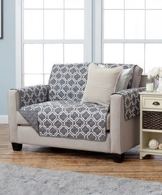 This Charcoal Reversible Furniture Protector by Home Fashion Distributors is…