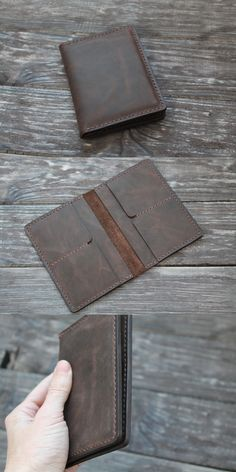 Leather Passport Wallet, Leather Wallet Pattern, Handmade Leather Wallet, Men Wallet, Leather Card Wallet, Leather Notebook, Leather Journal, Leather Folder, Passport Cover
