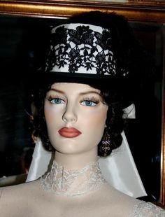 Victorian Top Hat SASS Riding Hat Tea Hat by eastangelharborhats, $179.00